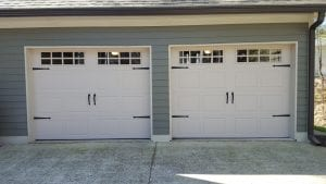 Carriage Garage Door Installation with Stockton Windows