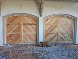 Cypress Garage Doors in New Construction